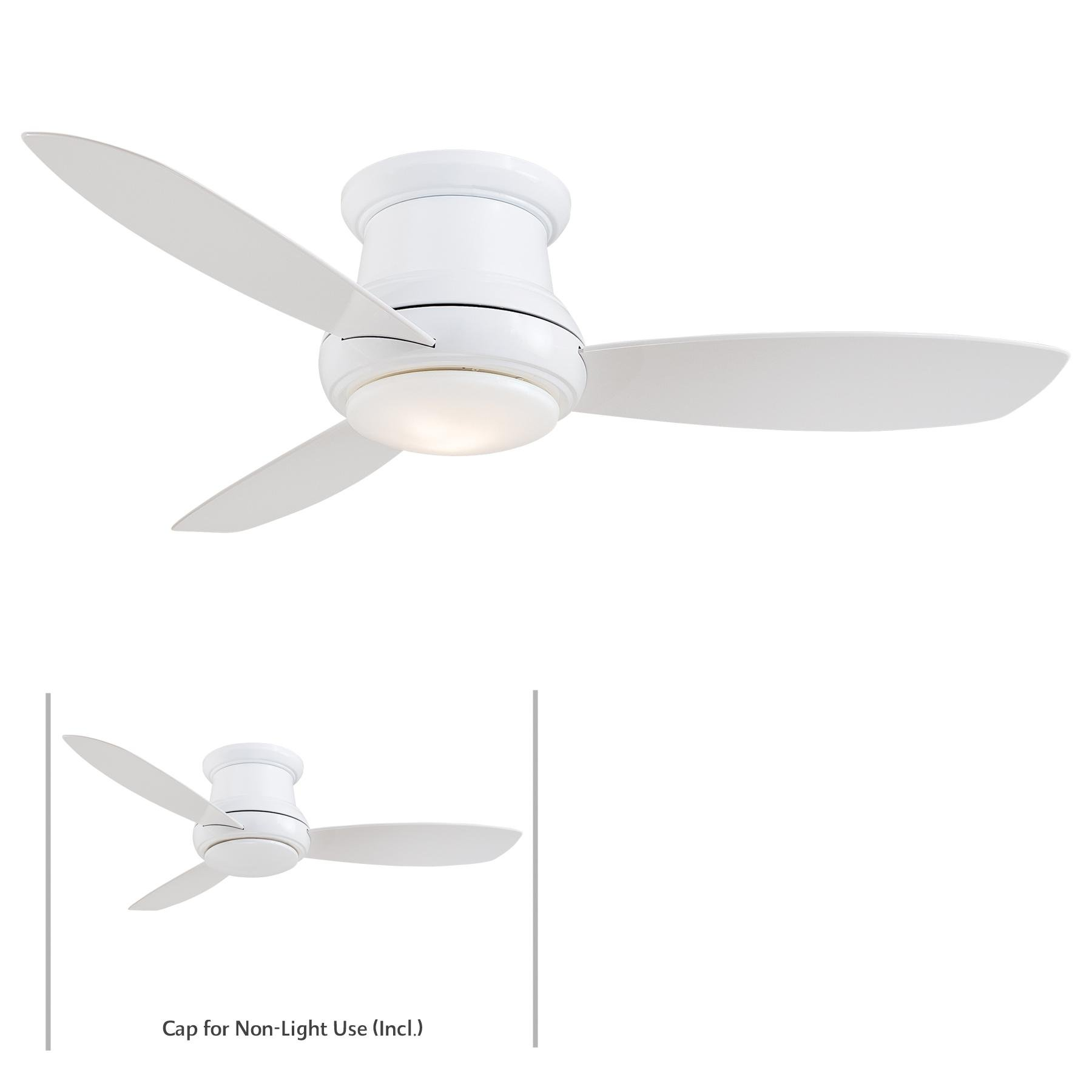 Minka-Aire F519L-WH, Concept II LED White Flush Mount 52'' Ceiling Fan with Light & Remote Control by Minka-Aire