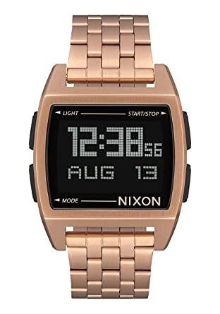 Nixon Base All Rose Gold Mens Retro Style Smart Watch (38mm. Digital Face/