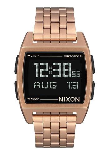 Nixon Base Digital reloj todos Oro Rosa Plus Origami reloj funda: Amazon.es: Relojes
