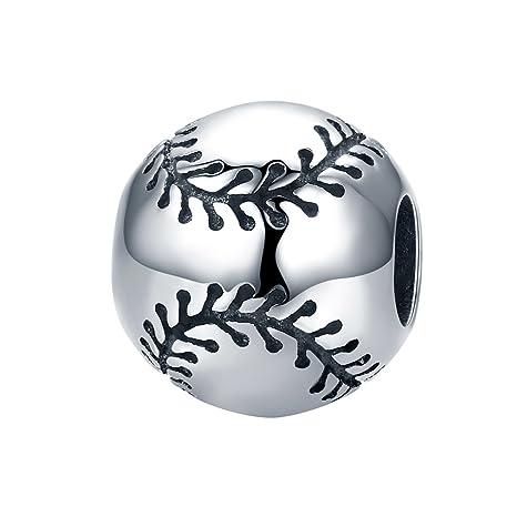 Abalorio deportivo de plata de ley 925 con diseño de balón de ...