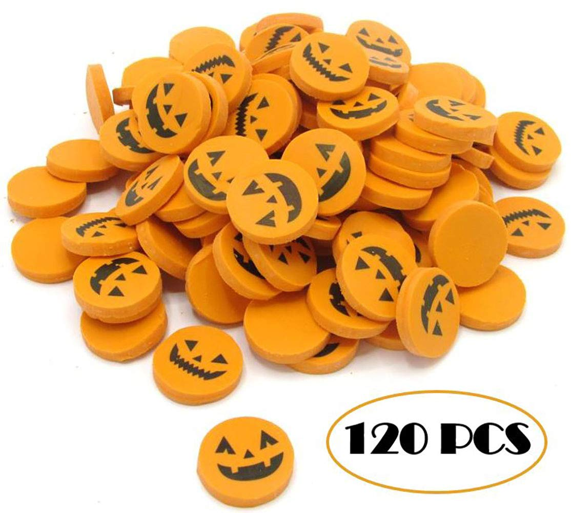 Halloween Erasers Pack Of 120 Pencil Erasers Holiday Gift Mini Novelty Party Favor Prize Reward Mega Stationers