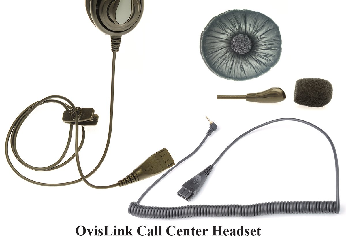OvisLink Call Center Headset Compatible with Cisco SPA Series IP Phones