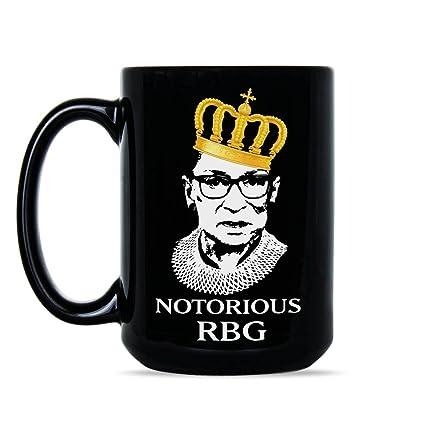 7a4bdec43b3 Amazon.com: Notorious RBG Coffee Mug Notorious Ruth Bader Ginsburg Mugs  Judge RBG Cup Gift: Kitchen & Dining