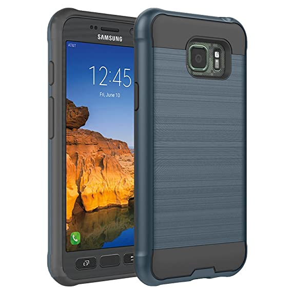 huge selection of ce564 ced48 S7 Active Case, Samsung Galaxy S7 Active Case, ROSEBONO 2-Piece Style  [Shock Proof] Slim Metal Brush Texture Protective Hybrid Defender Armor  Case ...