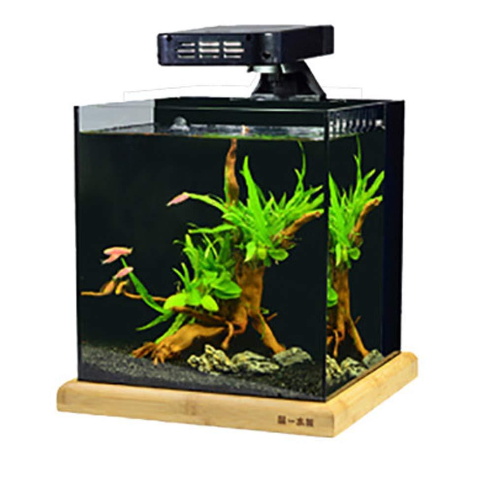 LSHUAIDJ Acuario Acuario Goldfish Tank Ultra Blanco Cilindro Filtro ...