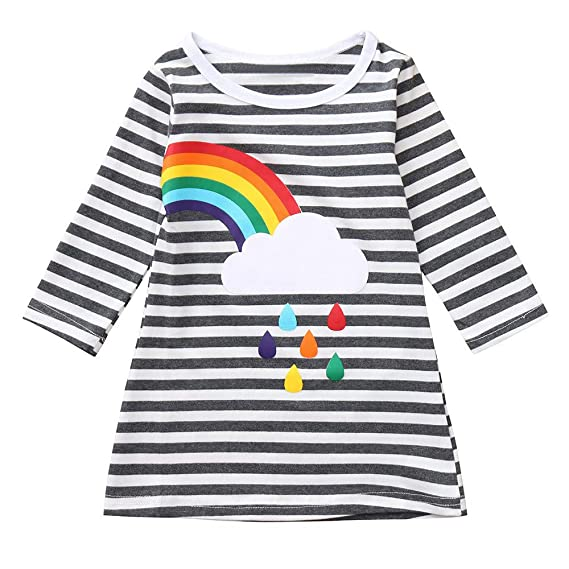 Vestido de Hermanas para Bebé Niñas Mangas Largas Otoño 2018 Moda PAOLIAN Ropa para Niñas Estampado