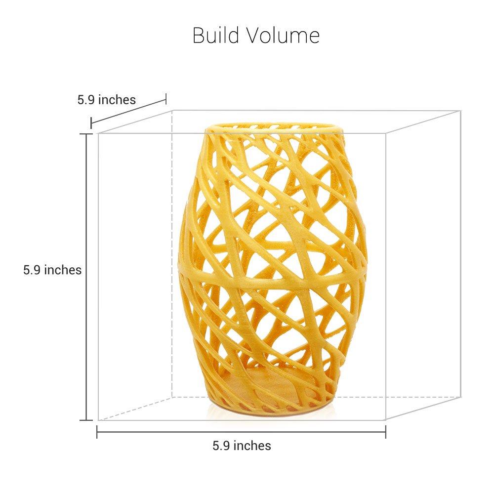 da Vinci Jr Pro 3D Printer-6x6x6 Volume Open Filament -  Upgradable to print Metallic//Carbon PLA XYZprinting Inc Fully Enclosed 3F1JPXUS00B Includes 300g Filament, Maintenance Tools, PLA//Tough PLA//PETG//Antibacterial PLA