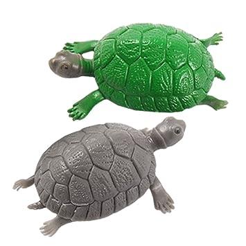 sourcingmap Plástico Pecera Tortuga Decoración Adorno, 2 piezas, verde/gris: Amazon.es: Productos para mascotas