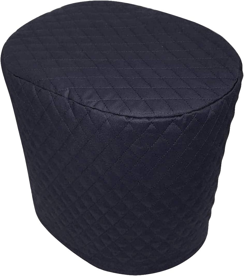 "Coffee Maker Cover, 8""x11""x13"" Quilted 2–ply Cotton Fabric Small Appliance Parts Cover for Kitchen & Dining TFC408 (black)"