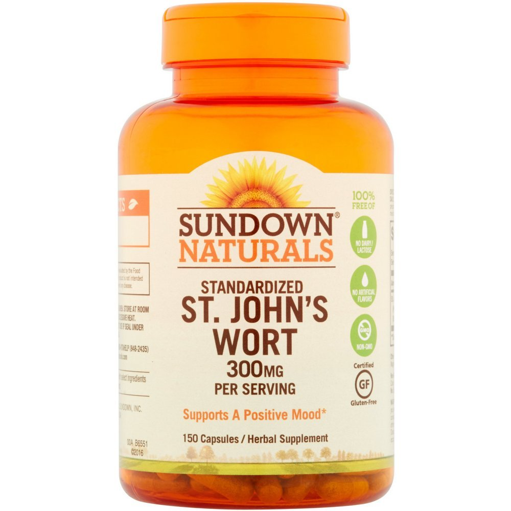 Sundown Naturals Standardized St. John's Wort Capsules 150 ea (Pack of 8)