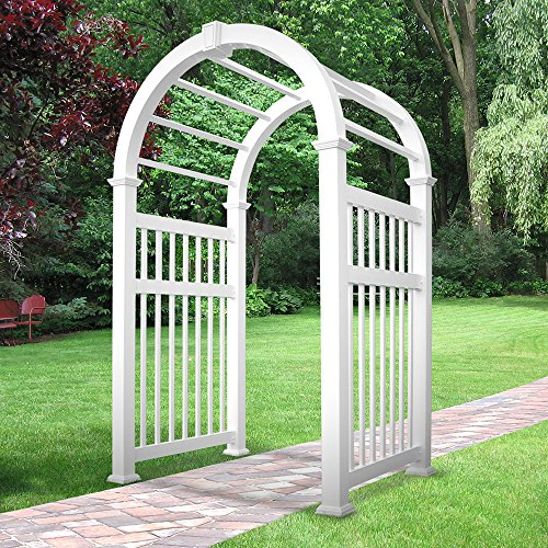 Weatherables Elizabethan Vinyl Arbor, 100 by 57-Inch
