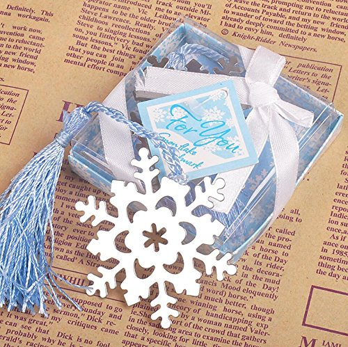 Book Lovers Collection Metal Snowflake Bookmark Favors (24) (Snowflake Favors)