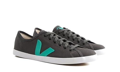 Veja Zapatillas de Deporte de Lona Para Hombre Gris/Vert: Amazon.es: Zapatos y complementos