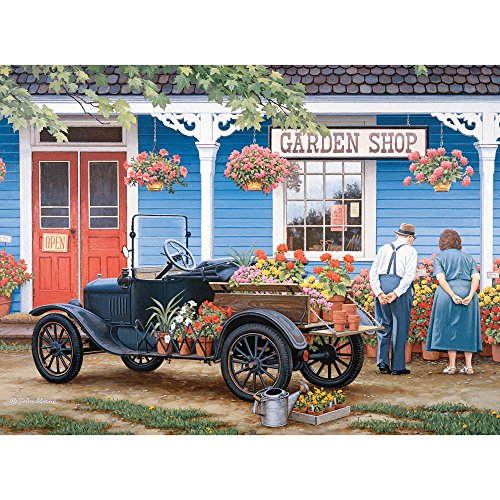 Bits and Pieces - 300 Large Piece Jigsaw Puzzle for Adults - Just One More - 300 pc Garden Shop Jigsaw by Artist John Sloane