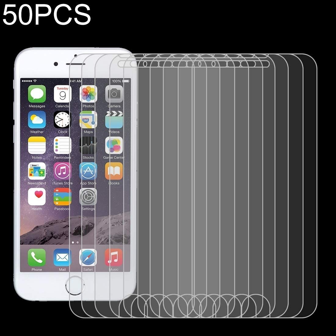 JIANGNIUS 100 PCS 9H 2.5D Non-Full Curved Tempered Glass Film for Galaxy Note 9