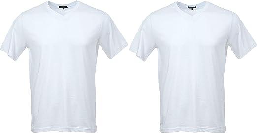 2 Pack Camiseta de Manga Corta Cuello V: Amazon.es: Ropa y accesorios