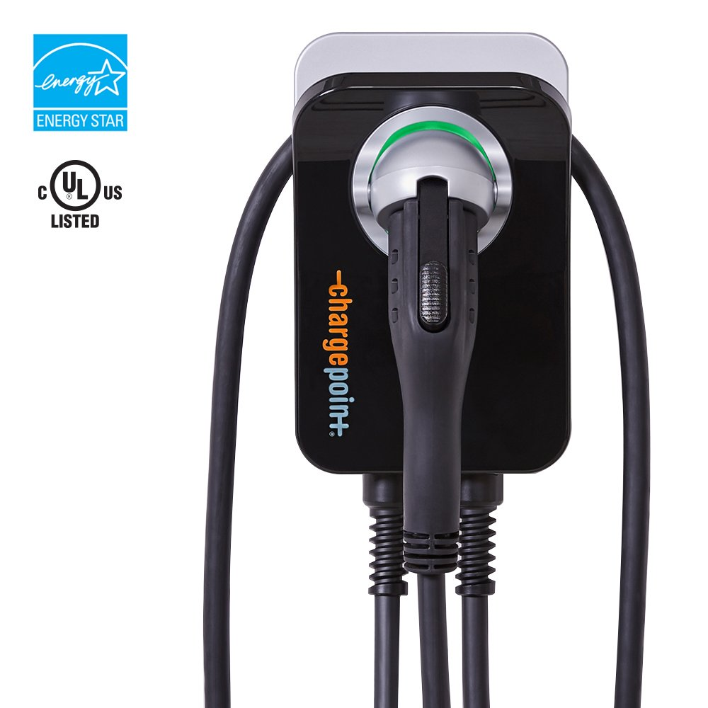 ChargePoint Home 32A Electric Vehicle Charger, Wi-Fi Enabled, Plug-in Station, Indoor Install, 25 ft. cord