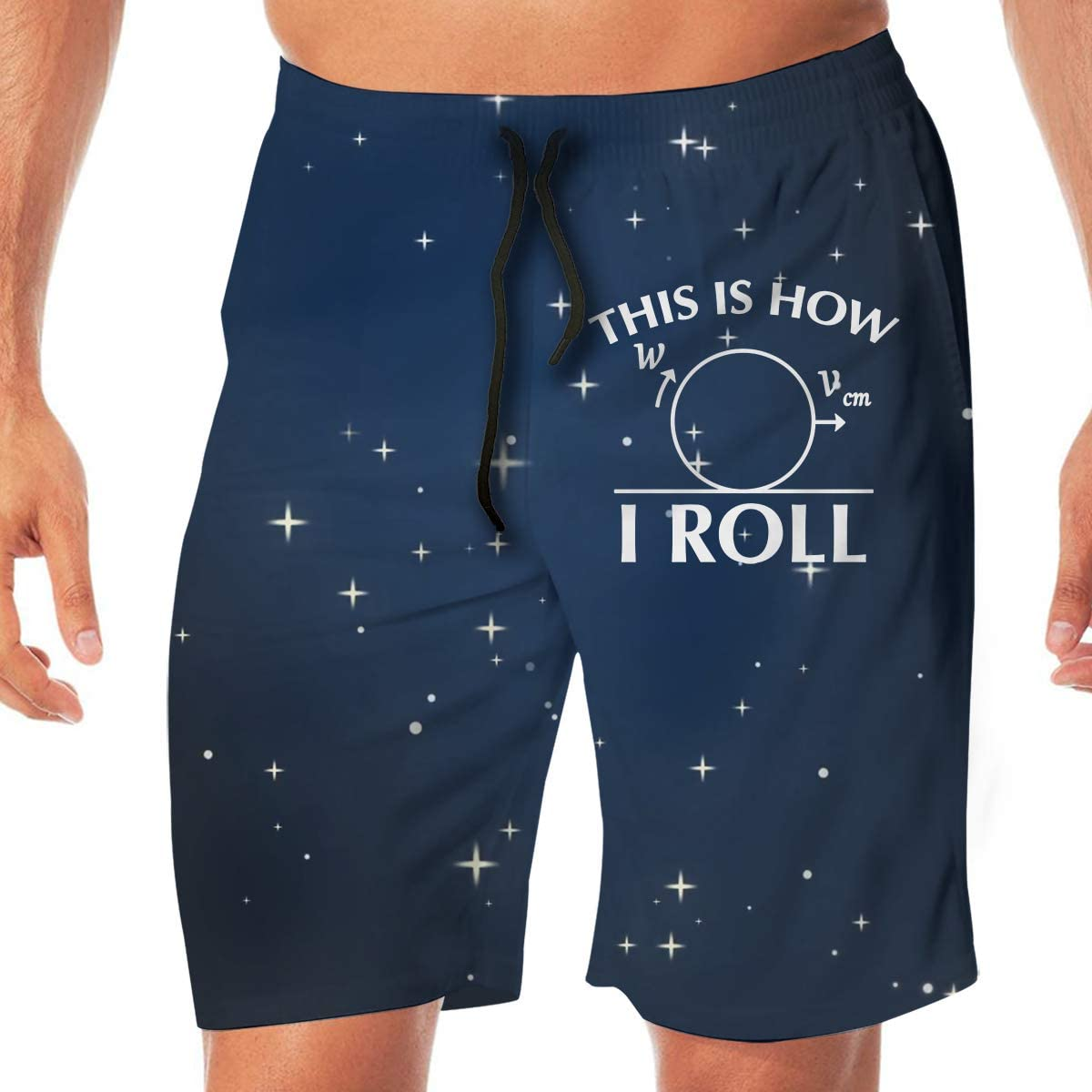 This is How I Roll Funny Math Mens Classic Summer Shorts Casual Swim Shorts with Pockets