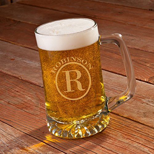 Personalized 25 oz. Monogrammed Beer Mug