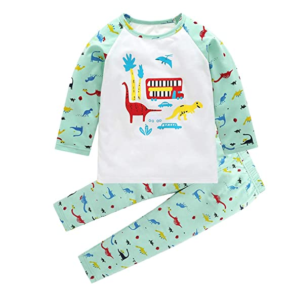 Conjunto para niños otoño Invierno, Newborn Kids Baby Boy Girl Dinosaurio Imprimir Tops