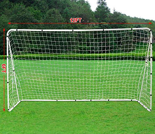 Yaheetech 12' x 6' Professional Soccer Goal With Net ...