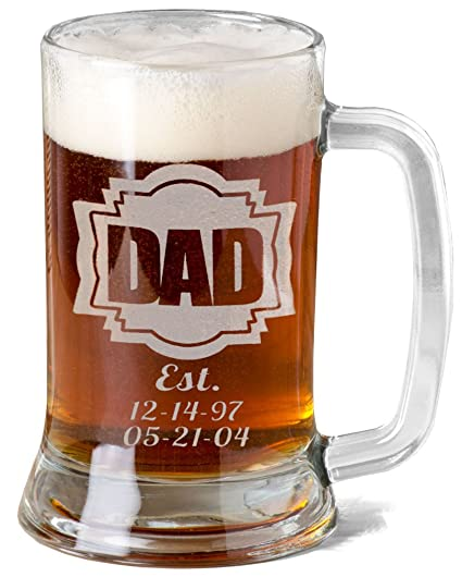 amazon com 16 oz gift for dad fathers day engraved glass beer mug