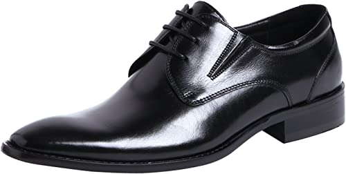 SANTIMON Dress Shoes for Mens Leather Classic Formal Slip on Oxfords Wingtip Lace Up Casual Shoes