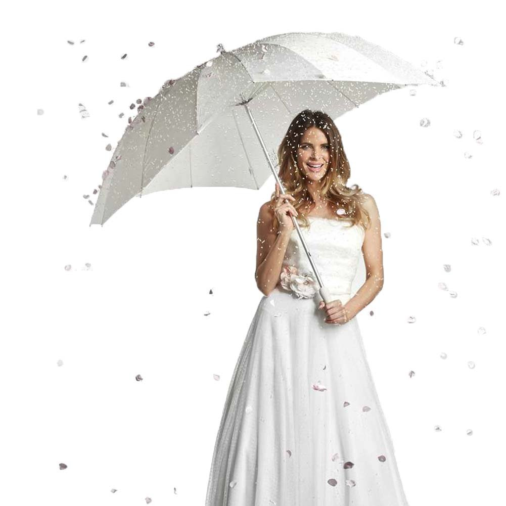 ''FOREVER LOVE'' Print - Heart Shaped Bridal Wedding Umbrella - IVORY by The Stunning Bride (Image #4)