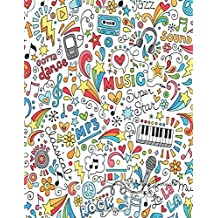 Song Writing Journals For Kids: Colorful Lined/Ruled Paper And Staff, Manuscript Paper For Notes, Lyrics And Music. For Musicians, Students, Songwriting. Book Notebook Journal 100 Pages  8.5x11