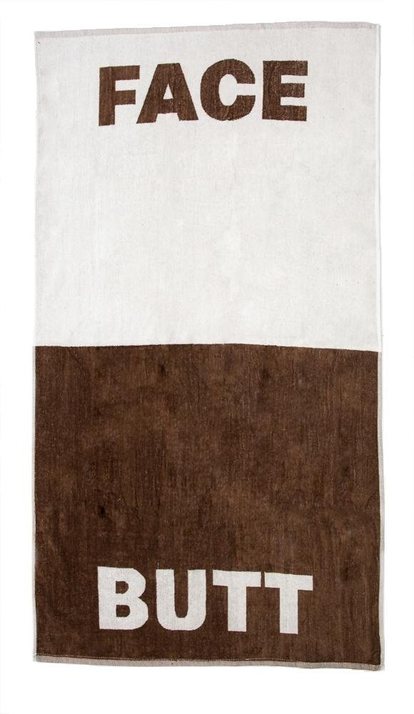 """Lady Sandra Home Fashions The Face/Butt Towel by 100% Cotton Beach or Bath Towel 30"""" x 56"""" 
