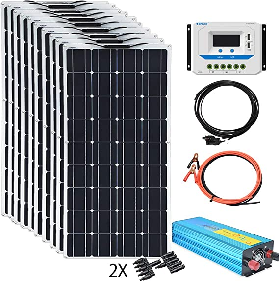 XINPUGUANG 1000W Flexible Solar Panels 24V 1000W Solar System Kit