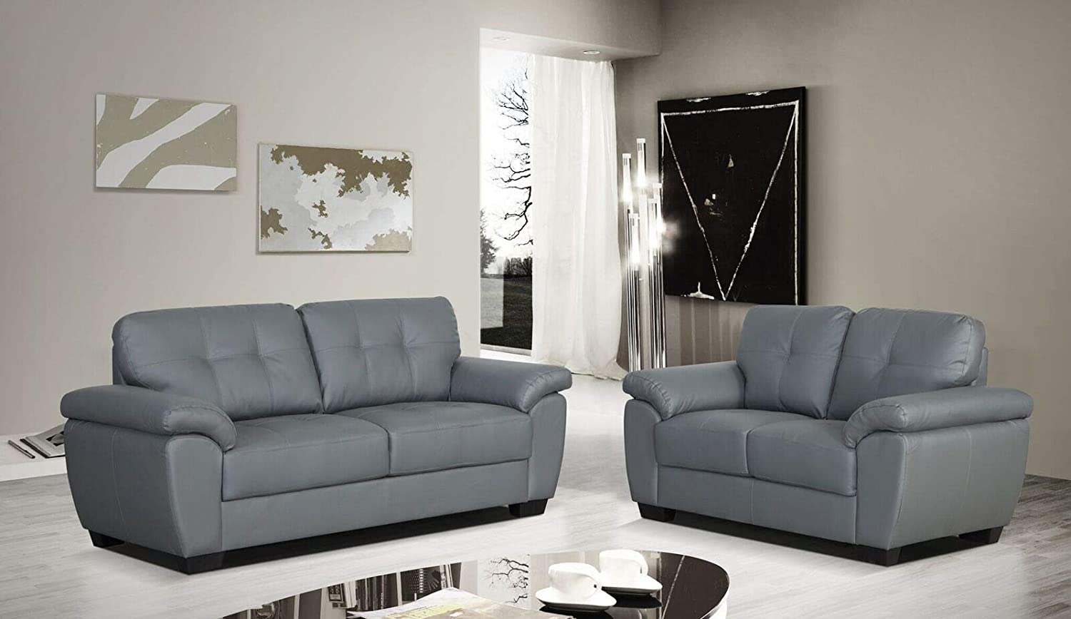 Swell Wedosofas Brisbane 3 2 Sofa Set Premium Bonded Leather In Ocoug Best Dining Table And Chair Ideas Images Ocougorg