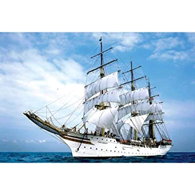 DIY Puzzles Education Toy 1000 Piece Jigsaws Landscape Large Puzzle for Adults & Children,Every Piece is Unique (White Sailboat): Toys & Games