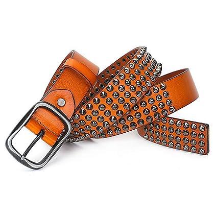 676d6de88ab Streatchable Braided Belt Classic Rivet Design Unisex Leather Belt for Men  Women Adults Gothic Belts Handmade