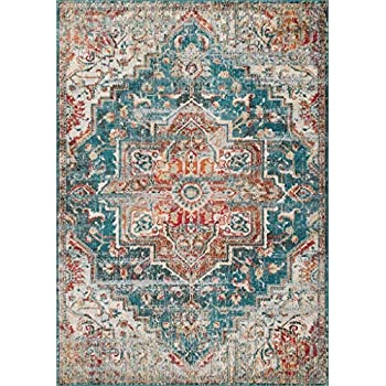 Luxe Weavers Blue 8x10 Oriental Area Rug