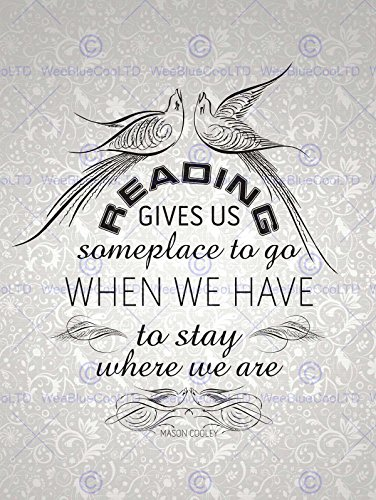 READING GIVES SOMEPLACE STAY COOLEY QUOTE TYPOGRAPHY WALLPAPER 12x16