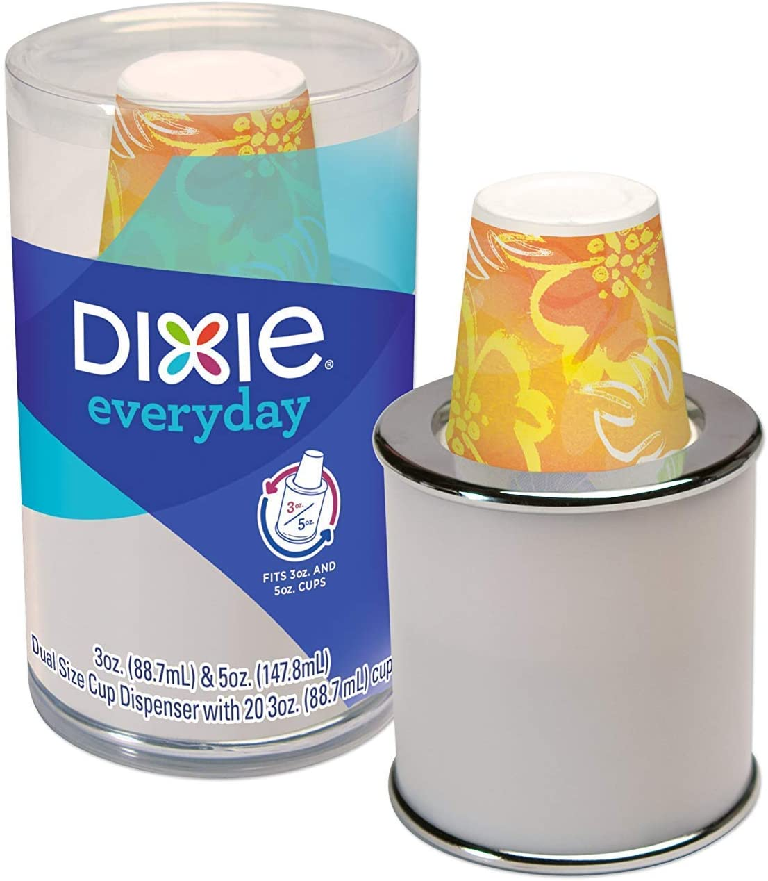 Dixie Disposable Paper Cup Dispenser, For 3 Ounce or 5 Ounce Bath Cups (2)