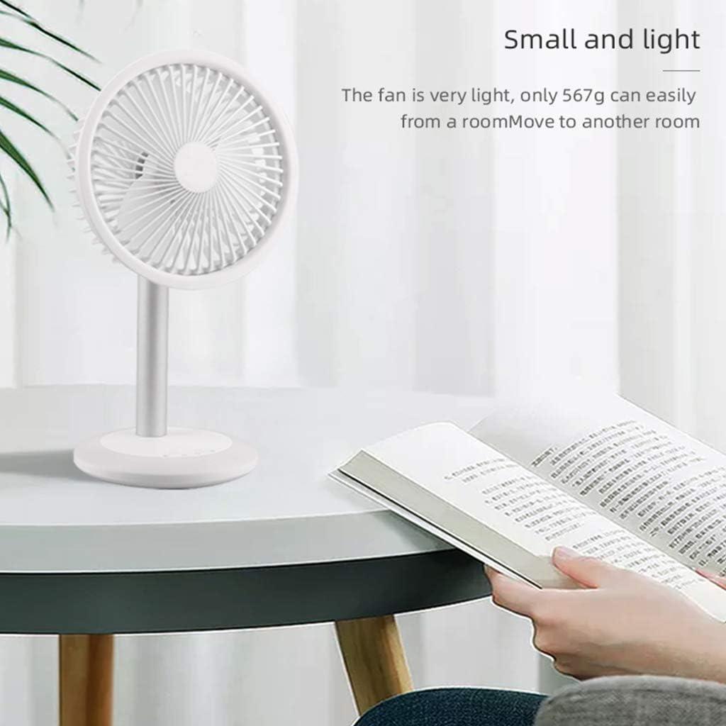 PHILSP Ventilatore Portatile con Ricarica USB Ventilatore a Testa tremante Ultra Silenzioso con LED Bianco Chiaro colorato Rosa