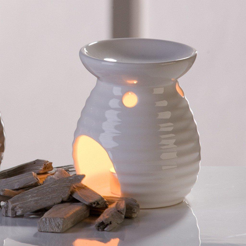 aroma burner Flavor ceramic, white oil burner Casablanca
