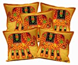 5Pcs-100Pcs Amazing India Patchwork Light Brown Elephant Design Home Decor Cushion Covers Wholesale Lot