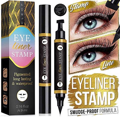 Eyeliner Stamp – Winged Eyeliner in Seconds – Easy to Use, Waterproof & Smudge Proof, Long Lasting Liquid Black Eye…