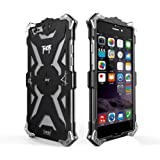 Iphone 6 Plus 6s Plus Case, Lwang Aviation Aluminum Anti-scratch Strong Protection Metal Case for Iphone 6s Plus, Hollow Design Full Signal Iphone 6 Plus 6s Plus Thor Case (Black)