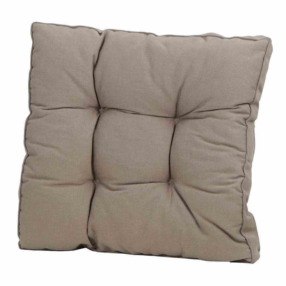 Madison 6 Stück Loungekissen, 73 x 73 cm, Universal-Sitzkissen für Gartenmöbel, 100% Polyacryl, in Rib Liver