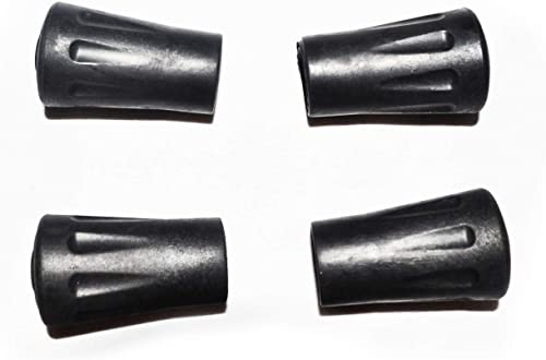 4 PCS Replacement Rubber Walking Pole Tips for Standard Trekking Poles