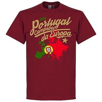 Portugal Campeóes Da Europa 2016 Squad List Tee - Deep Red - S