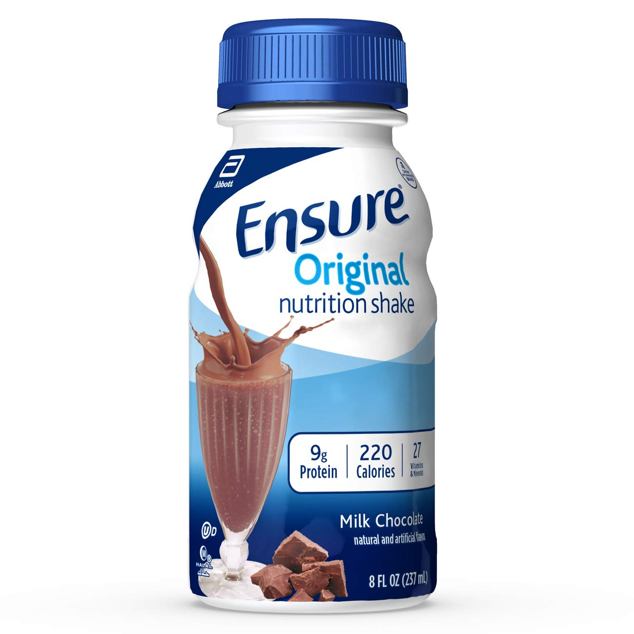 Ensure Original Nutrition Shake with 9 grams of protein, Meal Replacement Shakes, Milk Chocolate, 8 fl oz, 6 Count