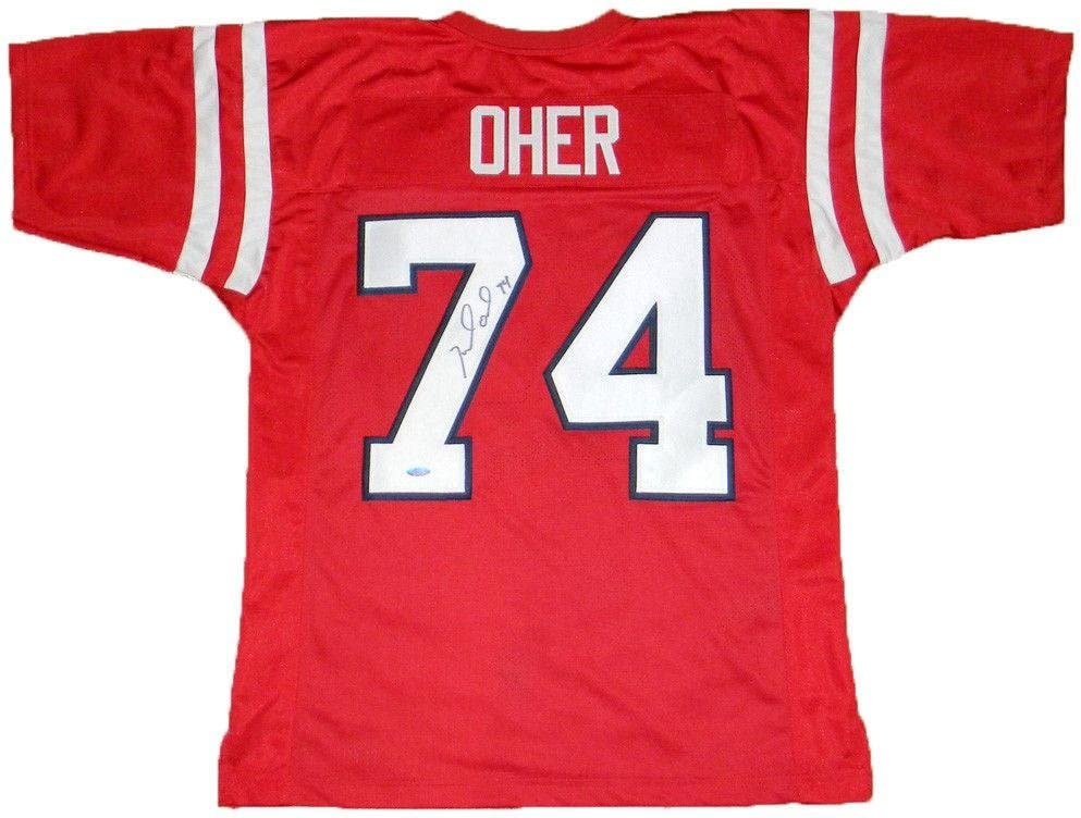 Michael Oher Autographed Jersey - Mississippi #74 Red Coa ...