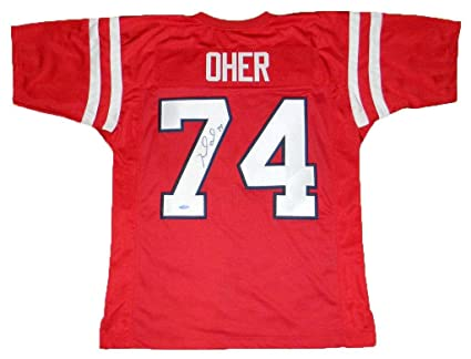 0494fb1a1 Image Unavailable. Image not available for. Color  Michael Oher Autographed  Jersey ...
