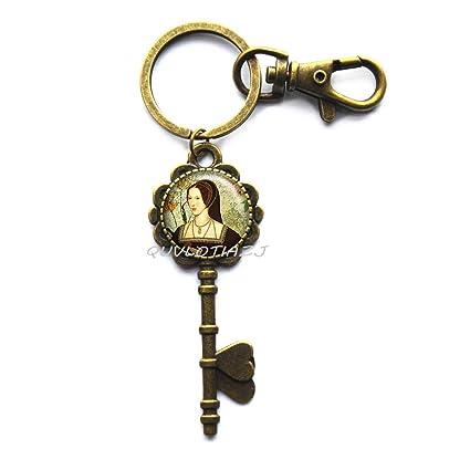 Tudor - Llavero con diseño de rosa, llavero de Tudor de la ...