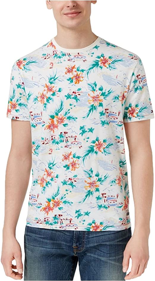 Tommy Hilfiger Mens Tropical Graphic T-Shirt